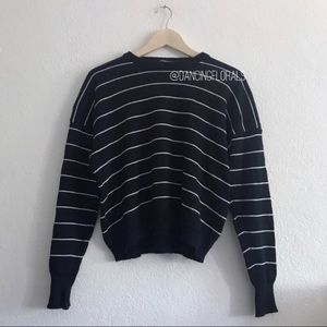 Brandy Melville Rena navy white stripe sweater